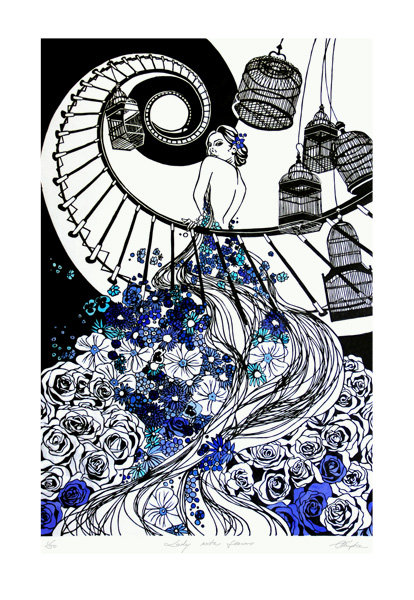 lady.w.flowers.print
