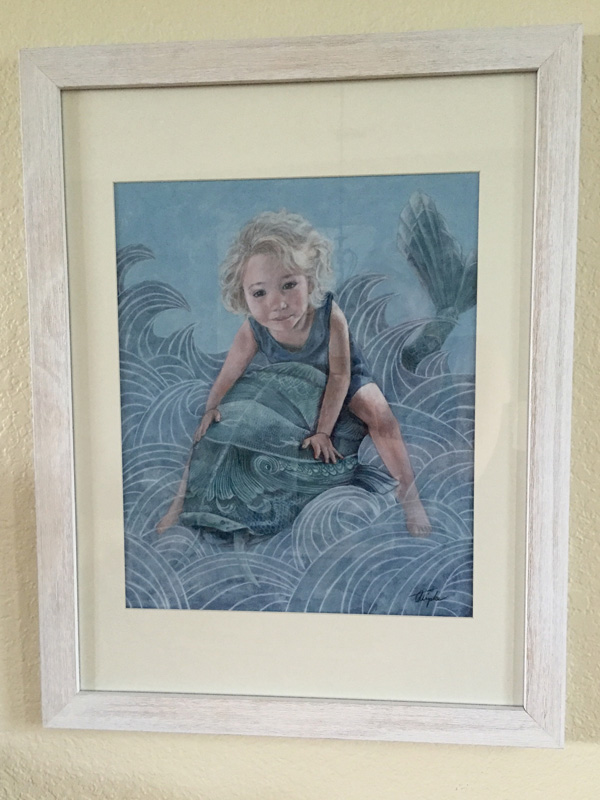 Little Girl on a giant Fish by Andrea Tripke