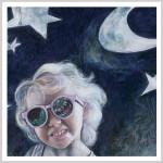 Monster, Moon & little Girl by Andrea Tripke